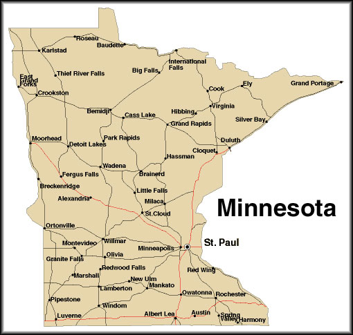 Coolkidlit 4 Socialstudies Map Of Minnesota